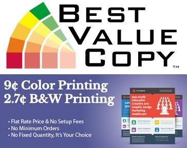 Best Value Copy - 9cent color printing